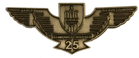 Grafik: Emblem - Hamburg Chapter Germany, 25 Jahre lokales Harley-Davidson Chapter in Hamburg