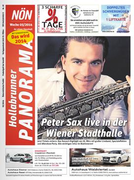 Peter Sax Titelfoto