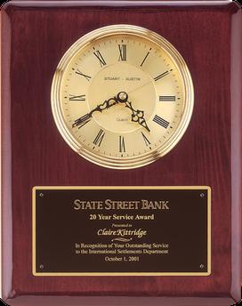 rosewood piano finish clock plaque