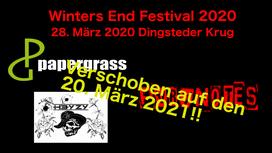 Der Dingsteder Krug hat aufgrund der aktuellen Lage sämtliche Veranstaltungen für die nächsten Wochen abgesagt. Das Winter´s End Festival ist verschoben auf den 20. März 2021! Karten behalten ihre Gültigkeit! Weiter  Informationen hier!
