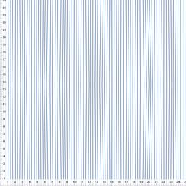 Bio-Stoff für Schlafzimmer mit schmalen Streifen in Blau aus Baumwolle zum Nähen - alle Farben möglich