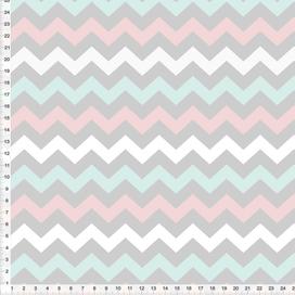 Stoff für Wohn- und Kinderzimmer mit ZickZack Muster aus Baumwolle - alle Farben möglich