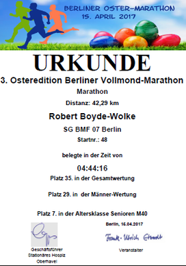 3. OSTEREDITION BERLINER VOLLMOND-MARATHON