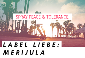 "Visual Statement vom Label Merijula: ""Spray peace & tolerance"""
