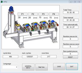 Vista pagina di configurazione