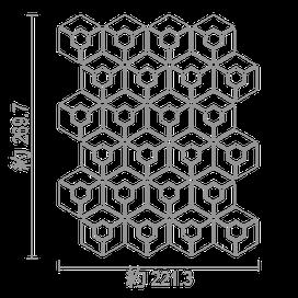 ナチュレ亀甲貼シート図