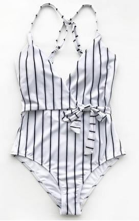 Stripe One-piece, beach, swimwear, swimsuit, onepiece, sun, summer