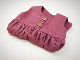Kleid aus Leinen mit Knopfleiste