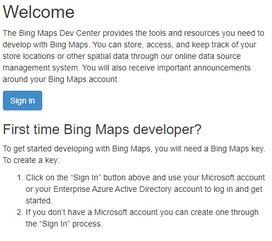 Bing Maps login