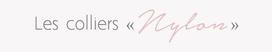Autour du cou nylon collier personnalisé à l'unité date anniversaire