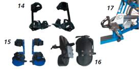 Fußfixierungen für Dreiräder