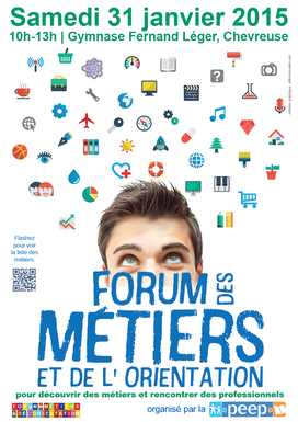 Affiche Forum des Métiers par Carole Mizrahi - Effet Immediat