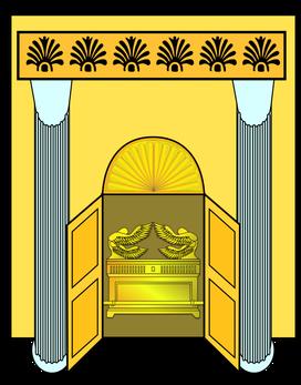 Lorsque le temple de Dieu est ouvert et qu'apparaît l'arche de son alliance,  se produisent des éclairs, des voix, des coups de tonnerre, un tremblement de terre, une forte grêle : les manifestations de la puissance et de la colère du Tout Puissant.