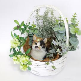 羊毛フェルト 猫 三毛猫