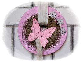 Türkranz, Frühlingskranz, Wandkranz, Gartendeko, Schmetterling, Holzschmetterling, Kranz, Frühling, Frühlingsdeko