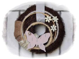 Türkranz, Türkränze, Kranz, Schmetterling, Holzschmetterling, Wohndeko, Frühling, Frühlingsdeko