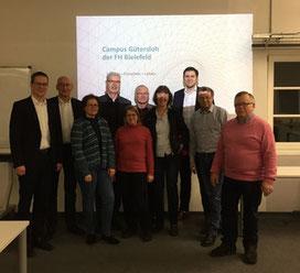 Vertreter des FDP-Kreisverbandes besuchten noch im vergangenen Januar den FH-Standort an der Gütersloher Schulstraße.