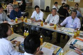 伊豆・小笠原諸島の観光関係者と八重山ビジターズビューローの意見交換会が行われた=16日午後、商工会館ホール