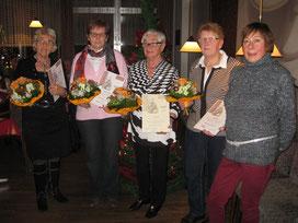 v.l.: Erika Speer, Ursula Wrobel, Ilse Hahne, Ingrid Heil, Gaby Elfreich