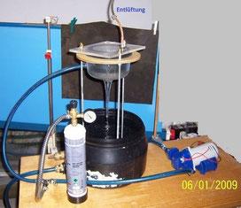 Pflanzenkraftstoff der Firma EGM aus Wasser, ÖL und CO2