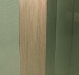 桧 板目 シール付単板 実用例