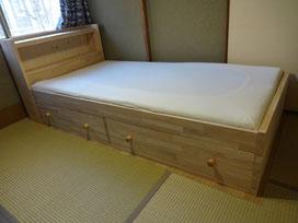 ゴム集成材の自作ベッド
