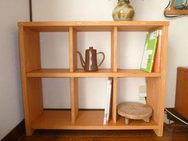 赤松集成材の自作本棚