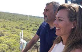 Nuria Campos, Rafal Mestre, Senticnel, La Vallesa, Paterna, sensores, incendios