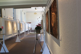 Kunst Ausstellung Schlössle Hieligenzell, Kunsttherapie Bernadette Vögele