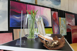 Ausstellung Frühlingsmarkt Lahr, Bernadette Vögele, Kunsttherpaie