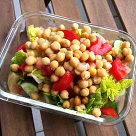 veganer Hummus-Salat aus dem Instant Pot