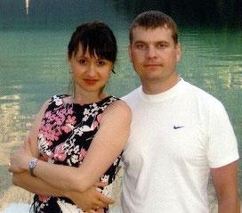 Районный надзиратель Денис Кашенков с женой