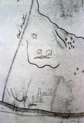 Schmelze in Innerferrera im Bereich der Gruben Martegn, Martin.