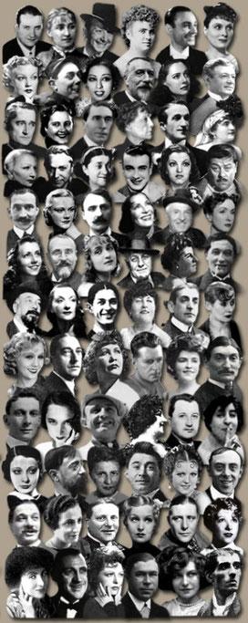 Chansonieurs der 1920er - 1950er Jahre