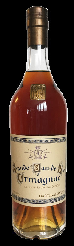 Vintage label revived from the archives for Dartigalongue 25 Year Old Grande Eau-de-Vie Bas Armagnac