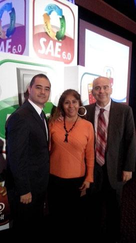 Con Brian Nishizahi Director de Comercialización y Lic. Alejandro Corona Director de Mercadotecnía, gracias por invitarme a este gran evento.
