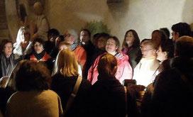 Chorale Jazz à tous les étages - st Roch-Montpellier- Fête des Lumières 2013 photo Danielle Ferré