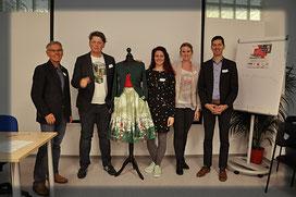 "vlnr: Reinhard Huber, Rudi Ball, ""Miss Petticoat"", Martina Karulle, Heidi Lampret, Stefan Oberguggenberger."