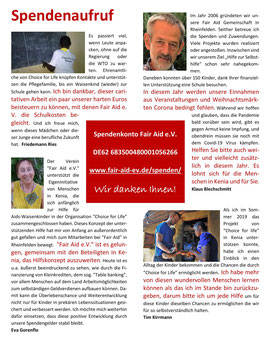 Klicken Sie das Bild an und lesen Sie den Spendenaufruf einiger unserer Mitglieder