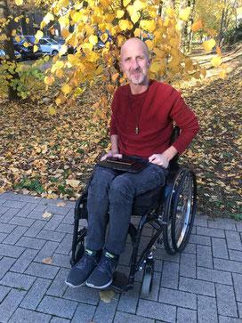 Andy Müller erzählte mir von seiner Krankheit (Foto: 11-2018, Jens Schmidt)