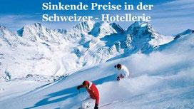 Schweizer Hotelpreise sinken
