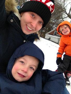 Spaß im Schnee mit meinen Jungs
