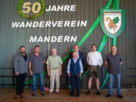 v.l.n.r: Tim Kohley, Josef Schmitt, Josef Gubernator, Herbert Hector, Martin Alten, Klaus Kessler und Patrick Meisberger
