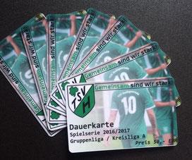 Dauerkarten des TSV Heiligenrode