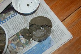 Zu früh entformte Seifenschale Die kleine Perlenwerkstatt
