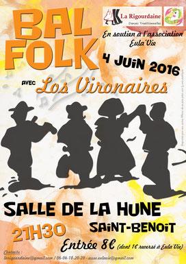 La Rigourdaine - Bal Folk 2016 - Eula'Vie - Los Vironaires