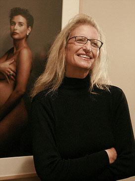 Annie Leibovitz y el retrato de Demi Moore. Fuente: Robert Scoble.