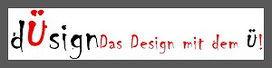 Hier sieht man ein Banner von Thorsten Hülsberg in den typischen Ü-Farben und zu lesen ist: dÜsign Das Design mit dem Ü!