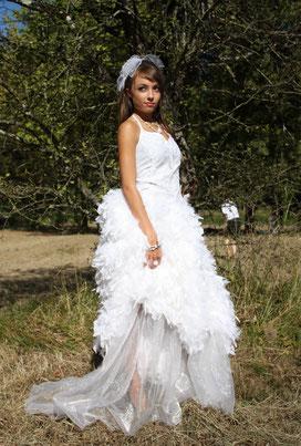 mariage, robe de mariée, miribel, création, couture, demoiselle d'honneur, tissus