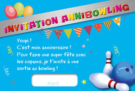 anniversaire bowling one